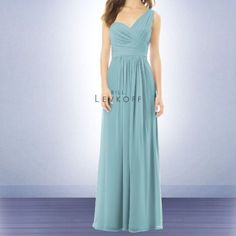 dd12aa98b70 Bill Levkoff Full-Length Gown (Glacier) Bill Levkoff Bridesmaids Long
