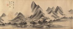 Landscape in the Style of Mi Fu  Attributed to Dong Qichang  (Chinese, 1555–1636)