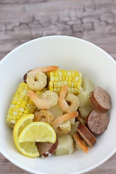 Crockpot Seafood Boil: I used frozen cooked, peeled, and deveined shrimp to avoid overcooking them, just add them to each individiual serving on their own plate. Shrimp easily overcooks so do not add them to the crockpot at all if they are cooked. If they are raw, add them in the last 20-30 mins and watch them. When they turn pink, they are done! Take them out immediately