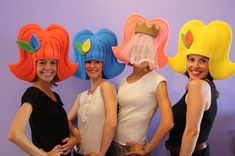 Crazy Hat Day, Crazy Hats, Photo Props, Photo Booth, Diy For Kids, Crafts For Kids, Foam Wigs, Kids Talent, Diy Hat