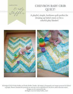 Chevron baby quilt pattern via Etsy