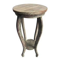Rustic Wood Plant Stand 12x27-in
