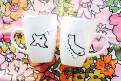 State or Country Heart Mugs-Going Away Present, Going Away Gift, Moving Away, Long Distance Relationship, Adoption- Customize. $35.00, via Etsy.