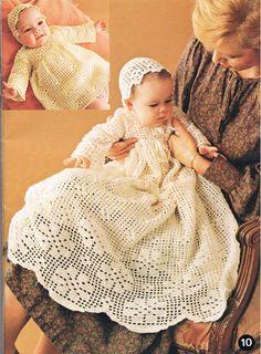 ♥ Welcome to The Applesauce Vintage Pattern Shop! ♥    Digital Copy of a Vintage Crochet Pattern. 1970s.    Patons Crochet Babys Christening