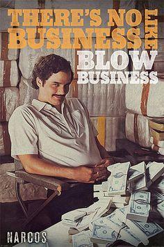 Póster Narcos, dinero Póster con la imagen del protagonista de la serie Narcos.