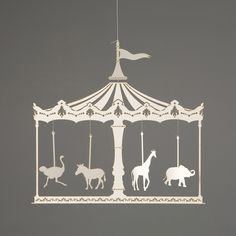 merry go round mobile- laser cut paper