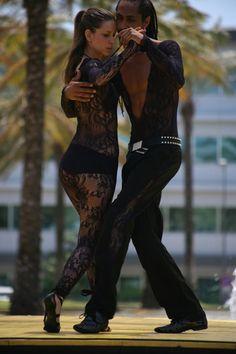 Kizomba partner dancing.
