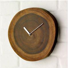 wooden clock <3