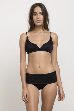 1eeee01916 Coast Side Ribbed Bralette Swim Bikini Top