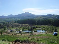 View looking out over the lower half of the campsite towards Ben Tee.  https://www.facebook.com/groups/807009975986274/