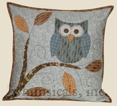 Sewing Pillows owl quilt blocks to make Applique Cushions, Owl Applique, Sewing Pillows, Applique Quilts, Owl Patterns, Applique Patterns, Quilt Patterns, Quilt Baby, Owl Quilt Pattern