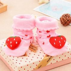 0-12 Month's Cute 3D Baby Cotton Socks/Shoes