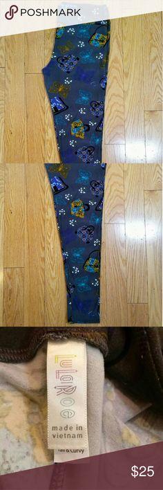 LuLaRoe leggings T/C Super soft with a handbag & butterfly print LuLaRoe Pants Leggings