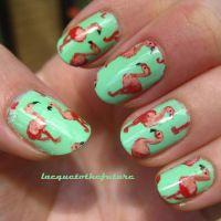 Flamingo print nails Flamingo Nails, Flamingo Art, Pink Flamingos, Summer Vacation Nails, Summer Nails, Flamingo Ornament, Trendy Nail Art, Love Nails, My Nails