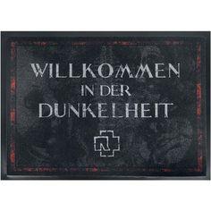 Willkommen In Der Dunkelheit - Fußmatte von Rammstein