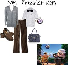 """""""Mr. Fredricksen Inspired Outfit"""" by disneydiva305 ❤ liked on Polyvore"""