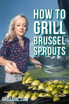 Love brussel sprouts? Try them on the grill to add smoke and crispiness from the grill! This recipe shows you how to put Brussel Sprouts on skewers that get grilled and finished with balsamic glaze and goat cheese. This recipe originally appeared in GrillGirl magazine available now on newstands!
