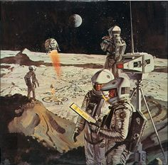 2001: A Space Odyssey, 1968. Production art