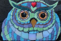 Mosaic Owl Wall Art