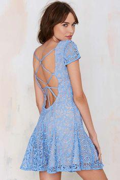 Lovely Blue Lace Dress