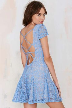 Lovely Blue Lace Dress