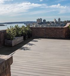 What a view Beautiful finish on this penthouse balcony overlooking the Sydney harbour. Our QWICKBUILD aluminium framing system applied directly on the waterproofing membrane finished off with our Seasalt RESORTDECK composite decking board Deck Design, Landscape Design, Composite Decking, Outdoor Living, Outdoor Decor, Balcony, Sydney, Sidewalk, It Is Finished