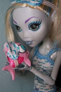 beautiful as the sea  my lagoona blue dead tired doll  she came with the hydration station