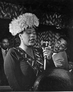 Ella Fitzgerald and Dizzy Gillespie photographed by William Gottlieb