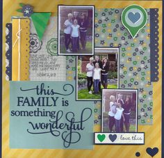 This Family - Scrapbook.com - Made with Simple Stories A  Charmed Life collection.