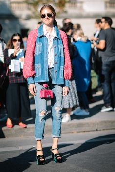 Paris Fashion Week SS17 Street Style: Day 8