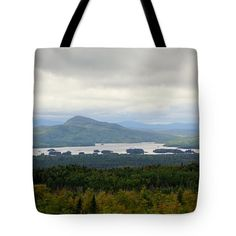 Allen Foley Tote Bags - Far Off Islands Under The Rain Tote Bag by Allen Foley