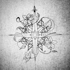 Compass for sale. $300 in black and grey. Hit me up nichelle@jackalopetattoo.com, all women staffed shop in Mpls, MN.