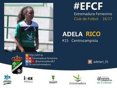 Adela Rico. El motor del Extremadura. Una técnica y visión de juego sensacional.  #EFCF #futfem #Almendralejo #Extremadura #futbol