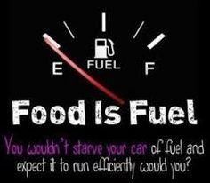 MAXMILLIAN THE SECOND: Food is fuel.....