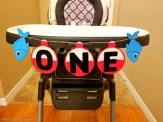 Ofishally One High Chair Banner, Ofishally One Party, 1st Birthday Banner, Fishing Themed Party Décor, Cute Fish Banner, Ofishally One Themed Party, Party Banner by MiracleMakerDesigns on Etsy