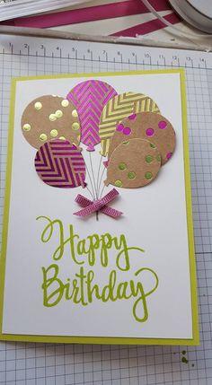 Cricut Birthday Cards, Creative Birthday Cards, Beautiful Birthday Cards, Homemade Birthday Cards, Cricut Cards, Birthday Greeting Cards, Happy Birthday Cards, Greeting Cards Handmade, Homemade Cards
