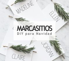 Crea originales marcasitios para tu mesa de Navidad #deco #diy