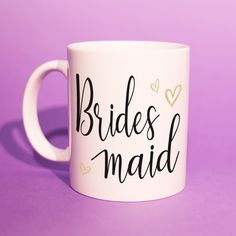Bridesmaid Gift - 'Bridesmaid' Mug (Wedding Gift Ideas, BFF Mugs, BFF Gift Ideas, Best Mate, Bestfriend Gifts, Congratulations Gift) BB023  'Bridesmaid' - A special gift for a special day  Perfect gift for any occasion.  Why not check out our Instagram (@TheBrewsBrothersMugs) to see more of our mugs. Thanks for stopping by. Bff Gifts, Best Friend Gifts, Engagement Gifts, Wedding Engagement, Special Day, Special Gifts, Bridesmaid Mug, Congratulations Gift, Personalized Gifts