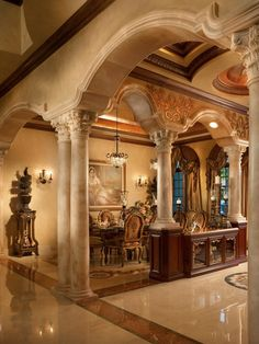 Bel exemple de colonnes en faux marbre ❈ épinglé par Muriel Roudenko – Artiste Peintre Décorateur –Paris