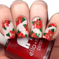 🌹Poinsettia Nails🌹 •