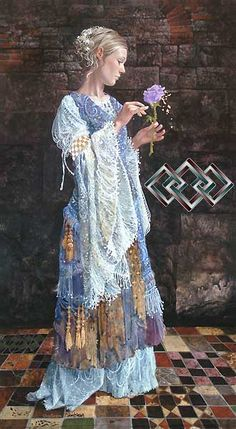 The Beggar Princess and the Magic Rose - James Christensen - World-Wide-Art.com