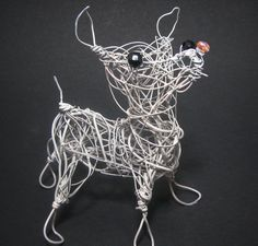 Chihuahua Dog Wire Sculpture