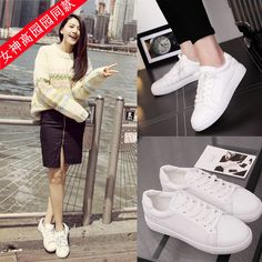 2016 Newest Korean Fashion Women's Breathable Casual Flats White Sports Shoes SE   eBay