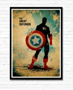 The Great Defender Captain America Minimalist Movie by moonposter