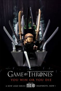 The Iron Throne via TTkc's Flickr. #Lego #GoT (RP'd by @edgedmangahas)