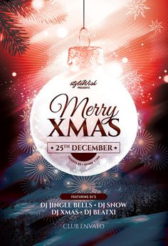 Merry Xmas Flyer Template (Buy PSD file - $9)