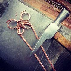Not yet ready #WireGalaxy #wire #wrapped #jewerly #butterfly #boho #wirewrap #copper #WireGalaxy #fantasy #hairpin