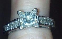 Leo diamond engagement ring