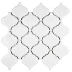Merola Tile Metro Lantern Glossy White 9-3/4 in. x 10-1/4 in. x 6 mm Porcelain Mosaic Tile-FDXMLGW - The Home Depot
