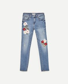 Image 8 of PREMIUM COLLECTION EMBROIDERED SKINNY FIT JEANS from Zara